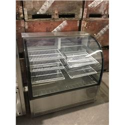 "50"" Curved Glass Refrigerated Display Case"