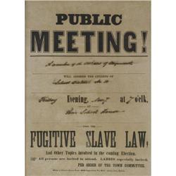 Fugitive Slave Law Broadside