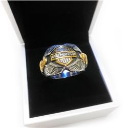 Harley Davidson Motor Cycle Riders Ring Size 11