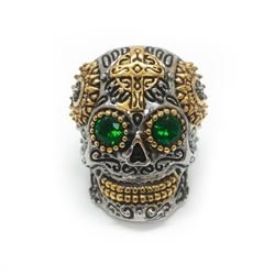 Large Men's Stainless Steel Skull Head Ring