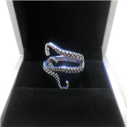 925 Silver Octopus Ladies Ring
