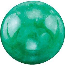 Round Cabochon Cut Natural Green Jadeite Jade - Fine