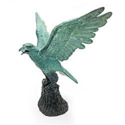 Large INCREDIBLE Handcrafted Bronze Eagle