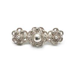 """Elegant Sterling Silver The Three Pearls"""" Custom Designed Ladies Brooch"""