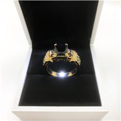 Ladies Black Sapphire 6ct Main Stone Marked 10kt Ring