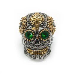 Large Men's Stainless Steel Skull Head Ring