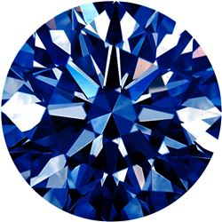 Extra Fine Rich Royal Blue African *ROUND CUT* VVS2-VS1 Grade Diamond