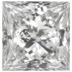 Finest SQUARE PRINCESS Natural Precision Cut African VVS2-VS1 - E-F Diamond