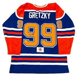 Authentic Wayne Gretzky Signed Edmonton Oliers #99 Jersey With Certificate Of Authenticity
