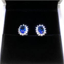 Lady Dianne Inspired Tanzanite Earrings Set With LED Ring Box