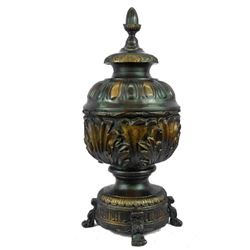 ORIGINAL LIMITED EDITION 5/100 BY THOMAS BRONZE URN ART NOUVEAU DECO DECOR LARGE