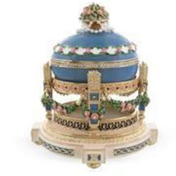 Cradle With Garland 1907 Love Trophies Royal Russian Egg