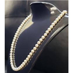 Real Pearl Necklace With 14K PJS Clasp