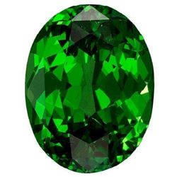 Rich Green Extra Fine Natural Chrome Diopside - Oval