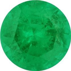 Medium-Fine Round Cut Natural Green Emerald - AA+ Grade