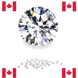 CANADIAN MINED NATURAL HEARTS & ARROWS DIAMOND MELEE
