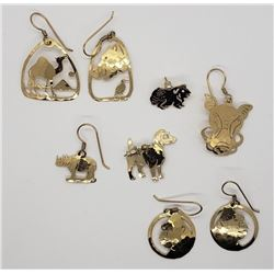 WILD BRYDE AFRICAN ANIMAL EARRINGS