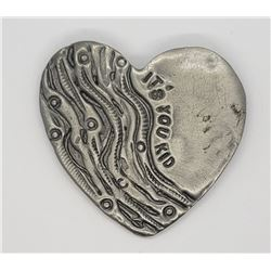 DON DRUMM PEWTER HEART PIN
