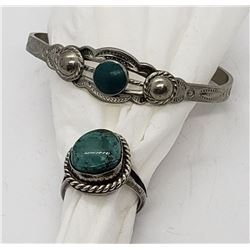 SOUTHWEST STYLE RING & CHILD CUFF BRACELET