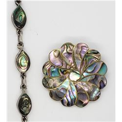 HECHO EM MEXICO / ABALONE BROOCH