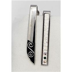 2-STERLING TIE CLIPS ANSON & SARAH COVENTRY