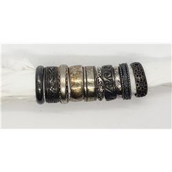 10-STERLING RINGS / BANDS