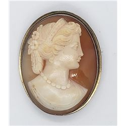 CAMEO PIN / PENDANT MARKED 900 SILVER