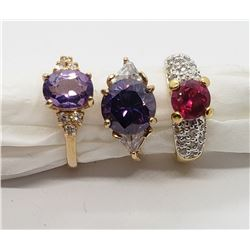 3-MORDERN FASHION LADY RINGS