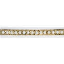 CINER BRACELET GOLD TONE w/WHITE