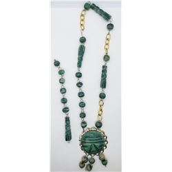 GREEN STONE TRIBAL NECKLACE