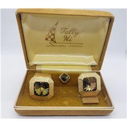 Tally Hi Vintage Mens Cufflink & Tie Clip sets