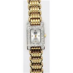 EJ Gold Tone Rhinestone Watch