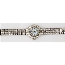 Xanadu Rhinestone Crystal Watch Silver Tone