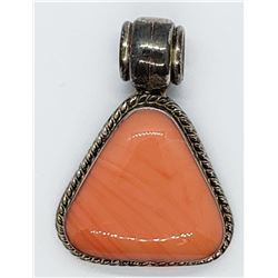 925 STERLING PENDANT w/CORAL COLOR