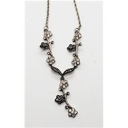 925 STERLING & MARCASITE NECKLACE