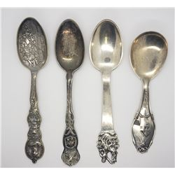 4-LARGE SOUVENIR SPOONS, OHIO