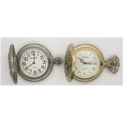 2-HUNTING THEME POCKET WATCHES