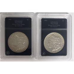 1901-O & 1902 MORGAN SILVER DOLLARS