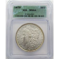 1879-P Morgan Silver Dollar ICG MS 64