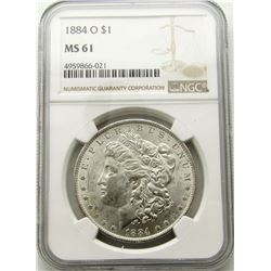 1884-O Morgan Silver Dollar $ NGC MS 61