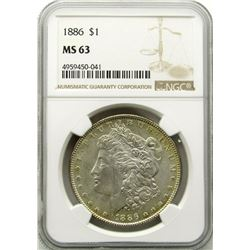 1886-P Morgan Silver Dollar $ NGC MS 63