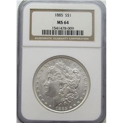 1885-P Morgan Silver Dollar NGC MS 64