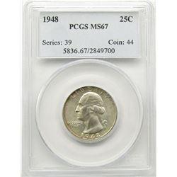 1948-P 25C Washington Quarter PCGS MS67