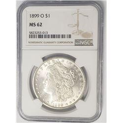 1899-O $1 Morgan Silver Dollar NGC MS62