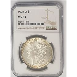 1902-O Morgan Silver Dollar $1 NGC MS63