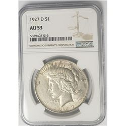 1927-D Peace Dollar $1 NGC AU53
