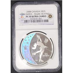2008 CANADA $25 OLYMPIC NGC PF70 UC