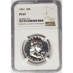 1961 50C Franklin Half Dollar NGC PF67
