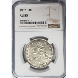 1832 Capped Bust Half Dollar 50C NGC AU55