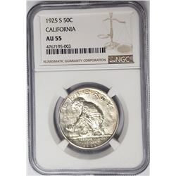 1925 S California Commemo Half Dollar NGC AU55